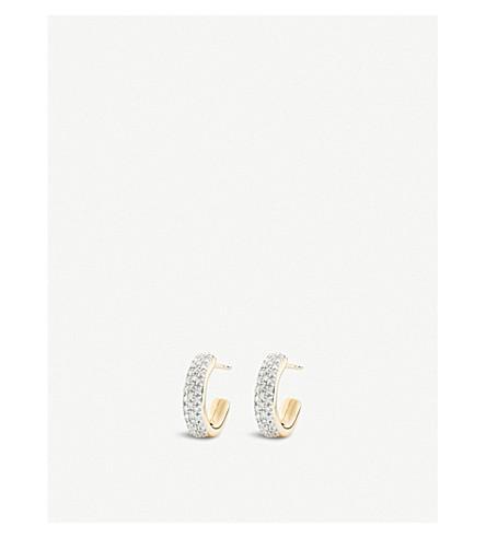 MONICA VINADER Fiji 18ct gold vermeil and diamond mini hoop earrings