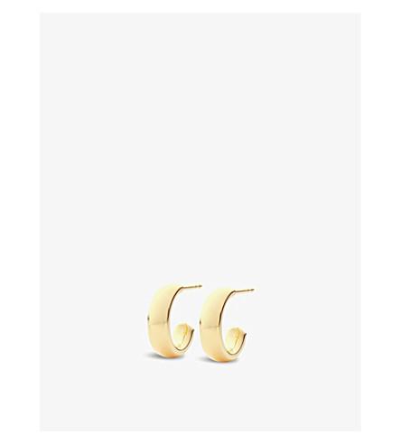 MONICA VINADER Fiji 18ct gold vermeil mini hoop earrings