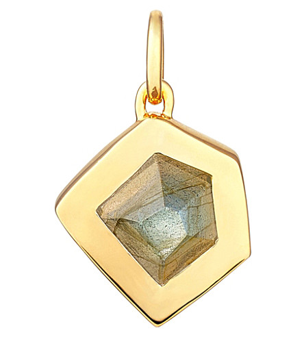 MONICA VINADER Petra 18ct gold-plated vermeil labradorite pendant