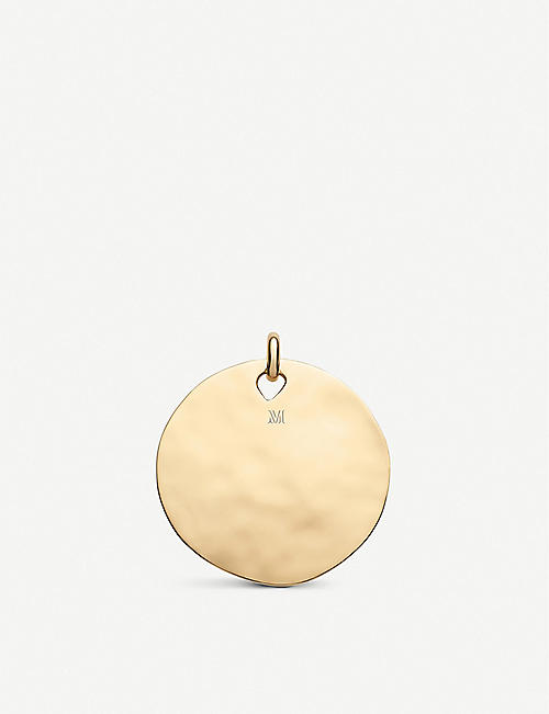 MONICA VINADER 齐吉锤打18ct 黄金 vermeil 和纯银吊坠吊饰