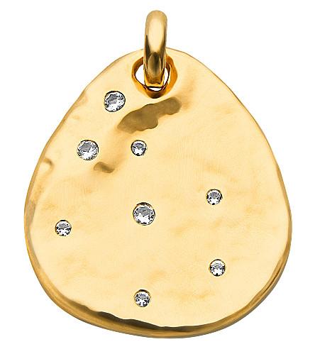 MONICA VINADER Siren 18ct gold-plated topaz pendant