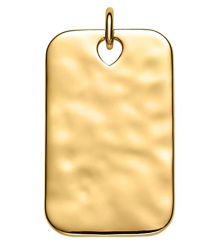 MONICA VINADER Havana 18ct yellow-gold vermeil ID pendant