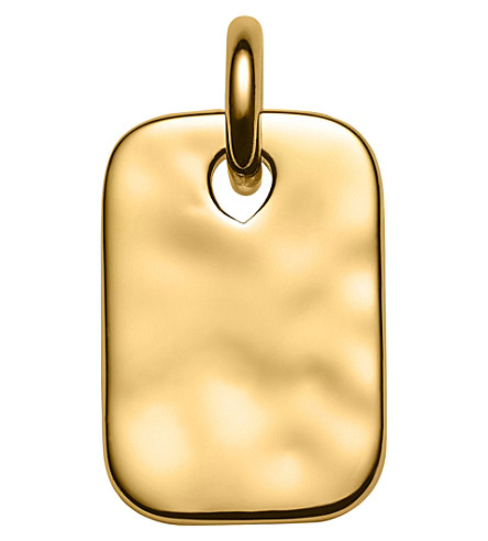 MONICA VINADER Havana Mini 18ct Gold-Plated Vermeil Pendant