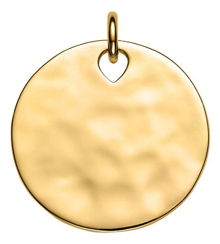 MONICA VINADER Havana large round 18ct gold vermeil pendant