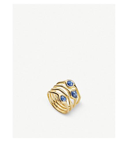 MONICA VINADER Siren 18ct gold vermeil and kyanite cluster cocktail ring (Blue