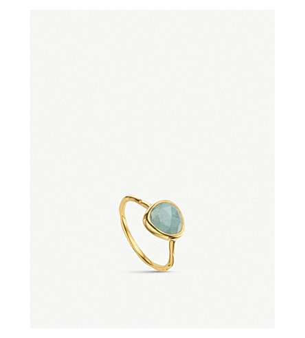 MONICA VINADER Siren gold-plated stacking ring (Gold