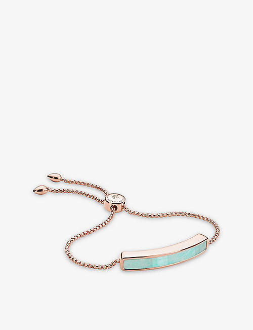 MONICA VINADER Baja sterling silver and amazonite bracelet