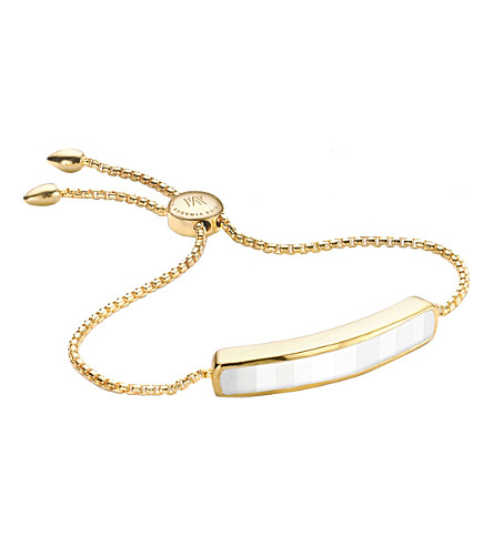 MONICA VINADER Baja 18ct gold-plated vermeil and white chalcedony bracelet