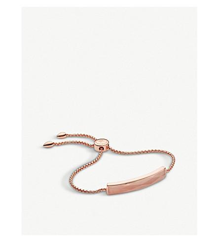 MONICA VINADER Baja 18ct rose gold vermeil and rose quartz bracelet (Pink