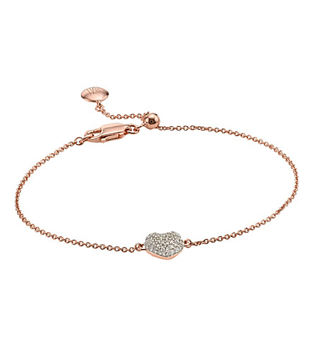 MONICA VINADER Nura 18ct rose-gold vermeil and diamond bracelet