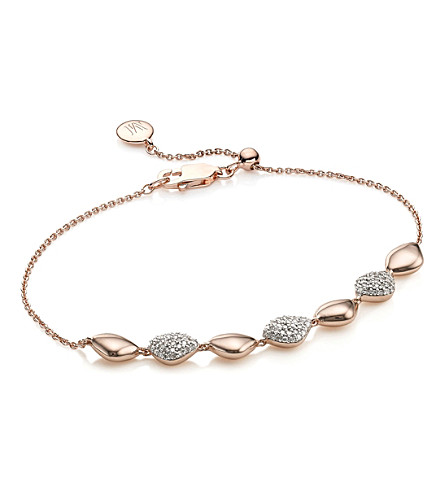 MONICA VINADER Nura Teardrop 18ct rose-gold and diamond bracelet