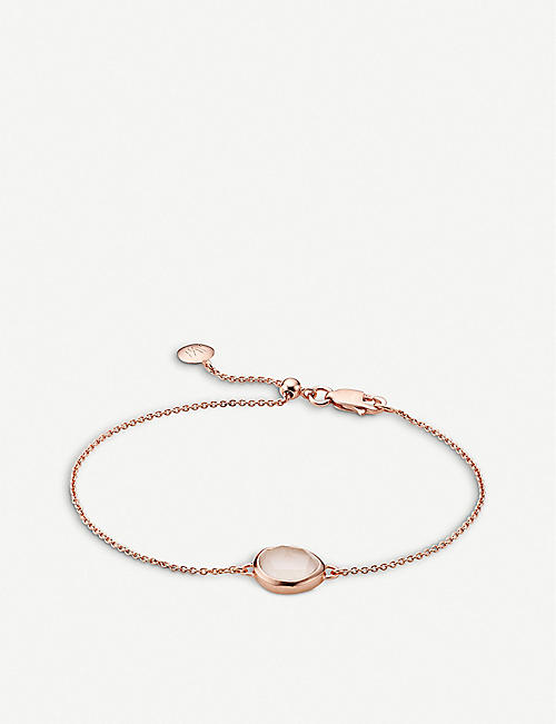 MONICA VINADER Siren rose gold-plated vermeil and rose quartz bracelet