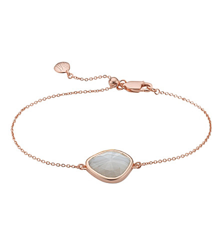 MONICA VINADER Siren Nugget rose-gold vermeil and grey agate bracelet