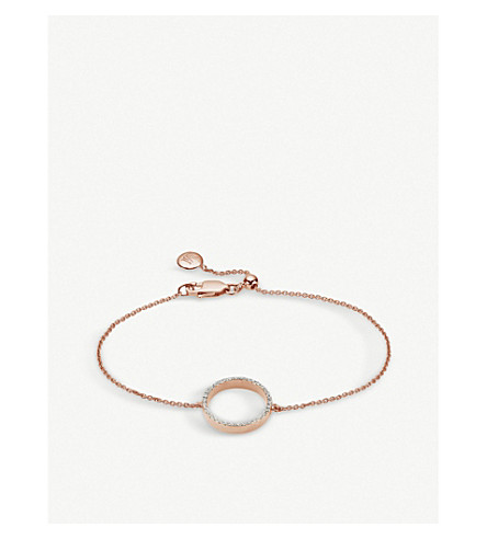 MONICA VINADER Naida 18ct rose gold-plated and diamond bracelet (Rose+gold