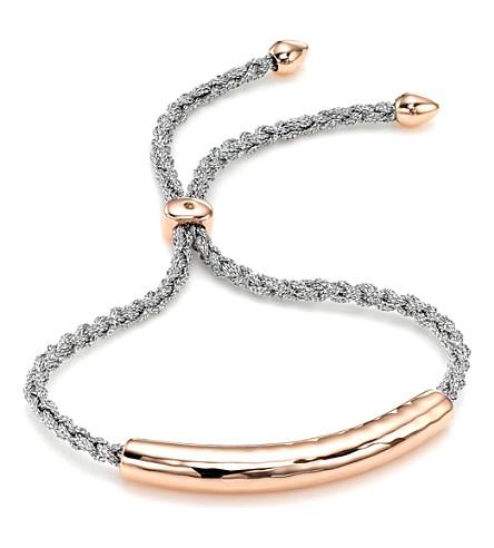 MONICA VINADER Esencia 18ct rose gold-plated friendship bracelet (Rose gold silver