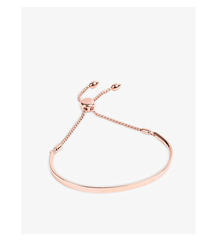 MONICA VINADER Fiji 18ct rose gold-plated chain bracelet (Rose+gold