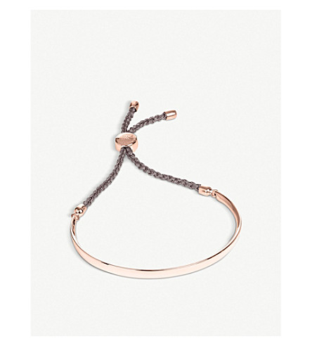 MONICA VINADER Fiji 18ct rose gold-plated friendship bracelet (Rose+gold,+mink