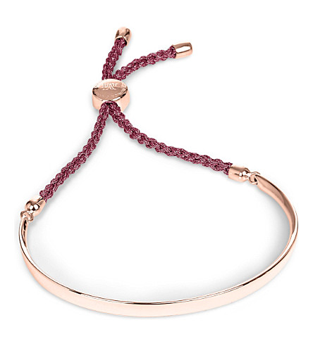 MONICA VINADER Fiji 18ct rose gold-plated friendship bracelet (Rose+gold,+red+berry