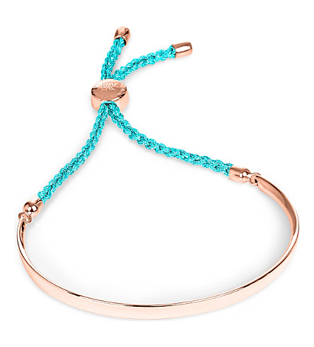 MONICA VINADER Fiji 18ct rose gold-plated friendship bracelet (Rose turquoise
