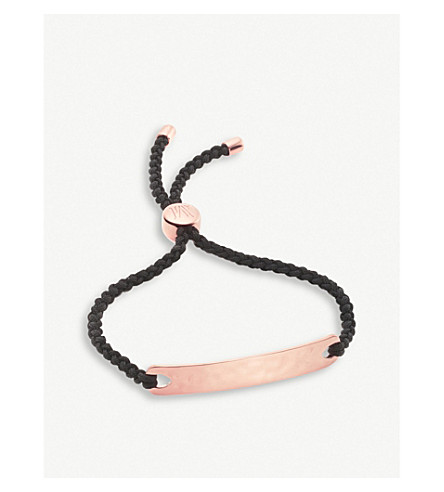 MONICA VINADER Havana 18ct rose gold-plated friendship bracelet (Rose+gold+black