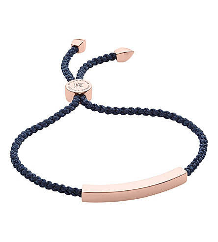 MONICA VINADER Linear rose-gold friendship bracelet