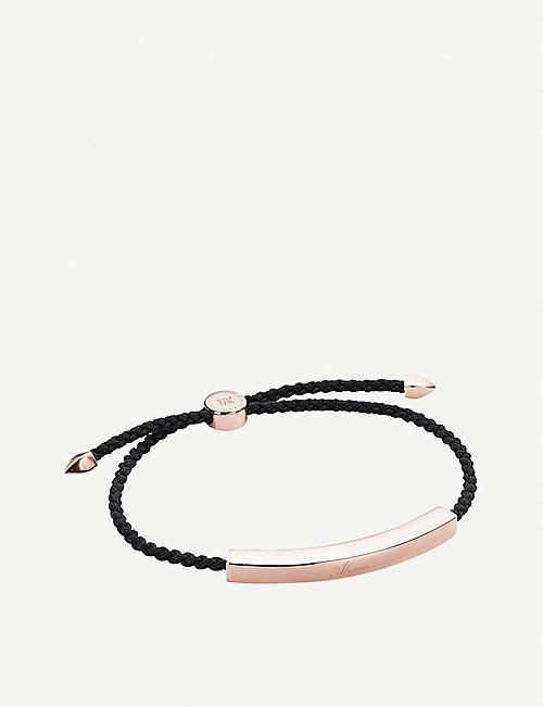 MONICA VINADER Linear 18ct rose gold-plated friendship bracelet