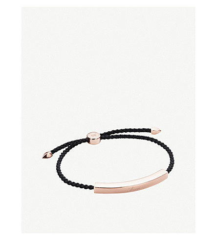 MONICA VINADER Linear 18ct rose gold-plated friendship bracelet