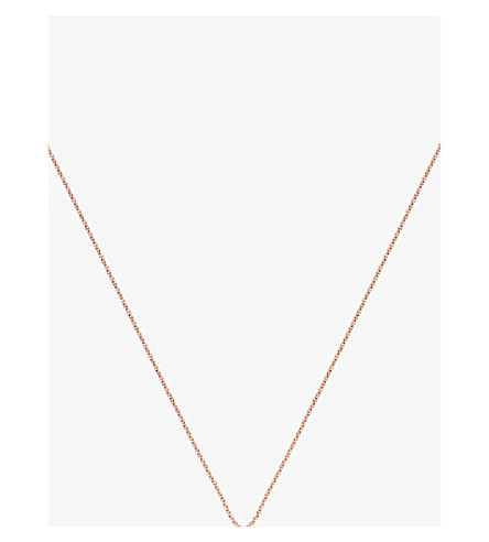MONICA VINADER 18ct rose gold-plated vermeil fine chain