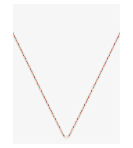 MONICA VINADER Rolo adjustable rose-gold vermeil chain