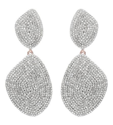 MONICA VINADER Nura Double Teardrop 18ct rose-gold and diamond earrings