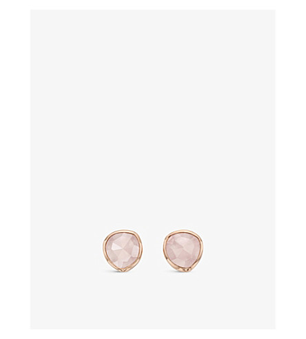 MONICA VINADER Siren 18ct Rose Gold-Plated Vermeil Earrings