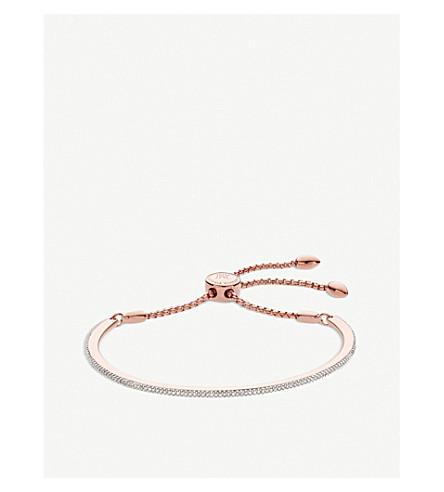 MONICA VINADER Fiji skinny bar 18ct rose gold vermeil friendship chain bracelet