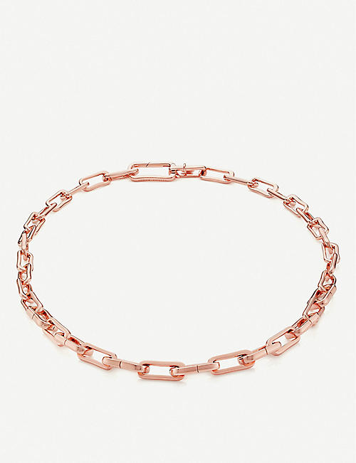 MONICA VINADER Alta Capture Charm 18ct rose gold-vermeil link necklace