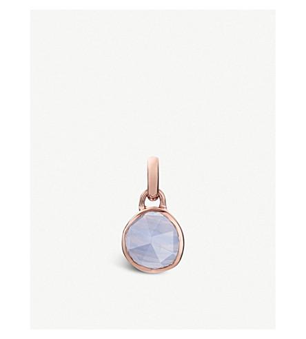 Rose Gold Siren Pendant Blue Lace Agate Monica Vinader RDEP8ktm6