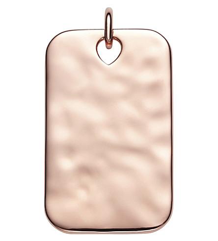 MONICA VINADER Havana 18ct rose-gold vermeil ID pendant