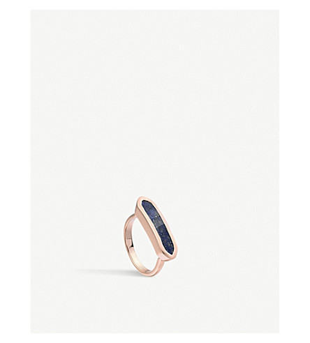 MONICA VINADER Baja 18ct rose-gold vermeil and lapis ring