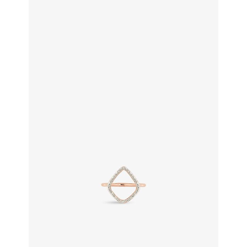 MONICA VINADER | Riva 18ct-Rose Gold Plated Diamond Ring | Goxip