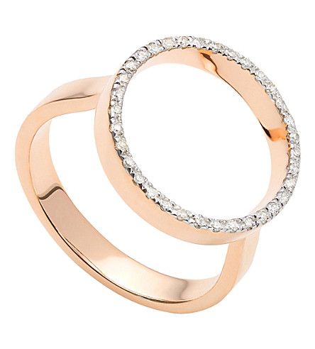 MONICA VINADER Naida Circle Open 18ct yellow-gold vermeil and diamond ring