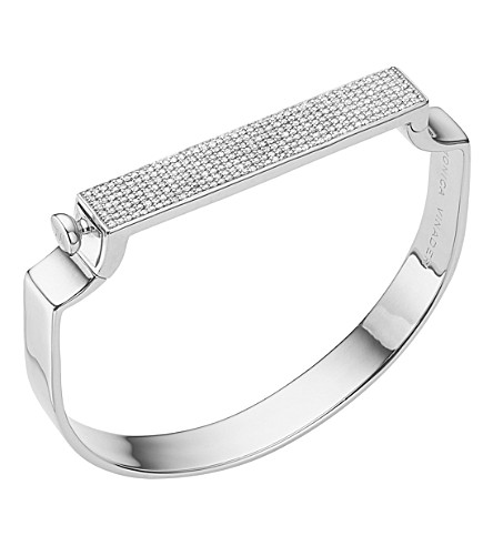 MONICA VINADER Signature diamond and sterling silver bangle