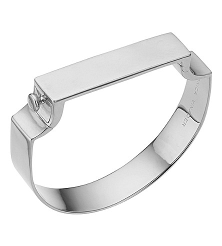MONICA VINADER Signature sterling silver bangle