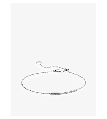 MONICA VINADER Skinny short bar bracelet