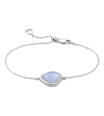 MONICA VINADER Siren Nugget sterling silver and blue lace agate bracelet