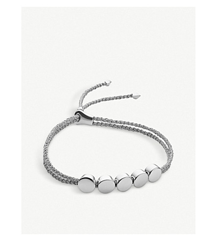MONICA VINADER Linear Bead sterling silver friendship bracelet