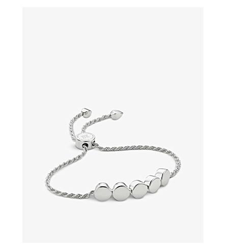 MONICA VINADER Linear Bead 18ct sterling silver plated friendship bracelet