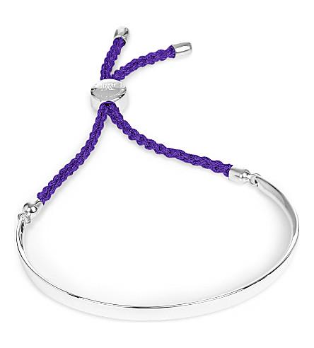 MONICA VINADER Fiji sterling silver friendship bracelet (Silver plum