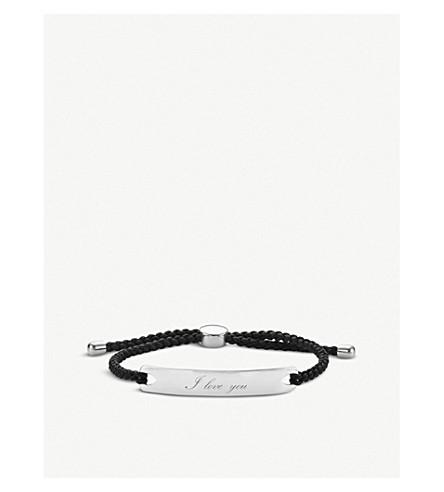 MONICA VINADER Havana sterling-silver bracelet (Black