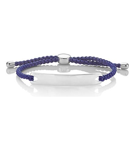 MONICA VINADER Havana sterling-silver bracelet (Denim blue