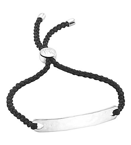 MONICA VINADER Havana sterling silver friendship bracelet (Silver+black