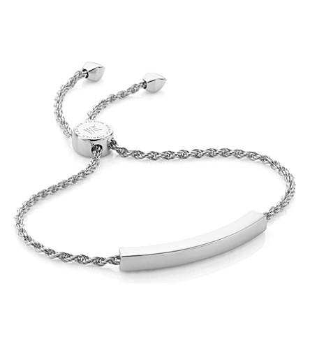 MONICA VINADER Linear sterling silver chain bracelet