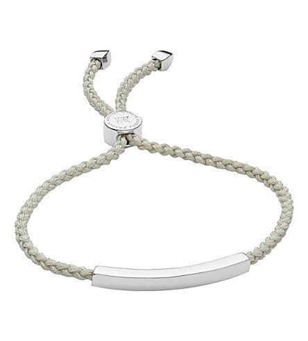 MONICA VINADER Linear woven sterling silver friendship bracelet